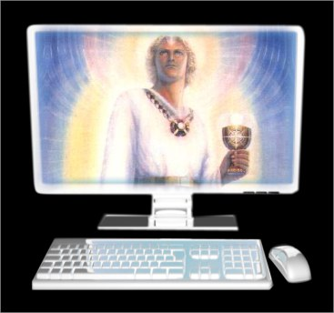Computer and keyboard as an illustration for what an altar is